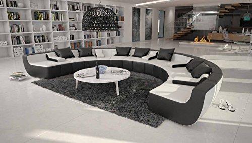 Wohnzimmer Wohnlandschaft: SAM® Sofa Garnitur schwarz weiß Ciao ...