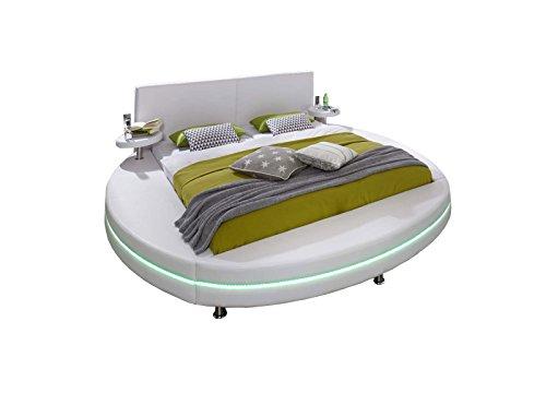 XXS® Polsterbett Rundbett Gallo 200 x 200 cm Bett in weiß  ~ Waschbecken Xxs