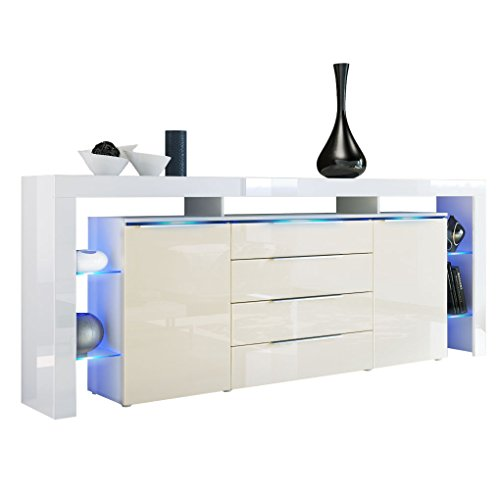 sideboard kommode lima nova v2 korpus in wei matt. Black Bedroom Furniture Sets. Home Design Ideas