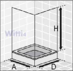eckeinstieg duschkabine echtglas sicherheitsglas mit. Black Bedroom Furniture Sets. Home Design Ideas