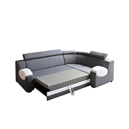big ecksofa ambro mit einstellbaren kopfst tzen polsterecke mit. Black Bedroom Furniture Sets. Home Design Ideas