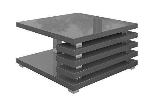Couchtisch Oslo 60 x 60 cm (grau hochglanz) 2  Möbel24