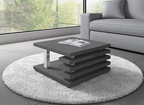 Couchtisch Oslo 60 x 60 cm (grau hochglanz)  Möbel24