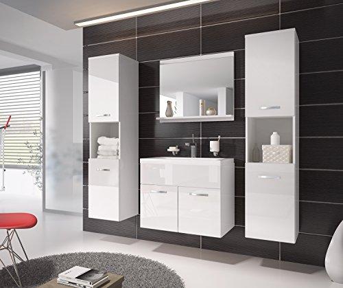 badezimmer badm bel montreal xl 60 cm waschbecken wei hochglanz fronten unterschrank. Black Bedroom Furniture Sets. Home Design Ideas