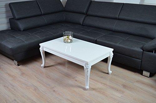 couchtisch hochglanz wei barock wohnzimmer lack tisch sofatisch beistelltisch 100 x 60 cm m bel24. Black Bedroom Furniture Sets. Home Design Ideas